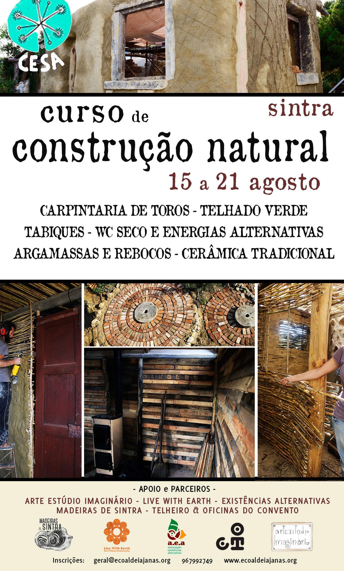 Curso de Construção Natural | 7 dias, 7 Técnicas, 7 Formadores