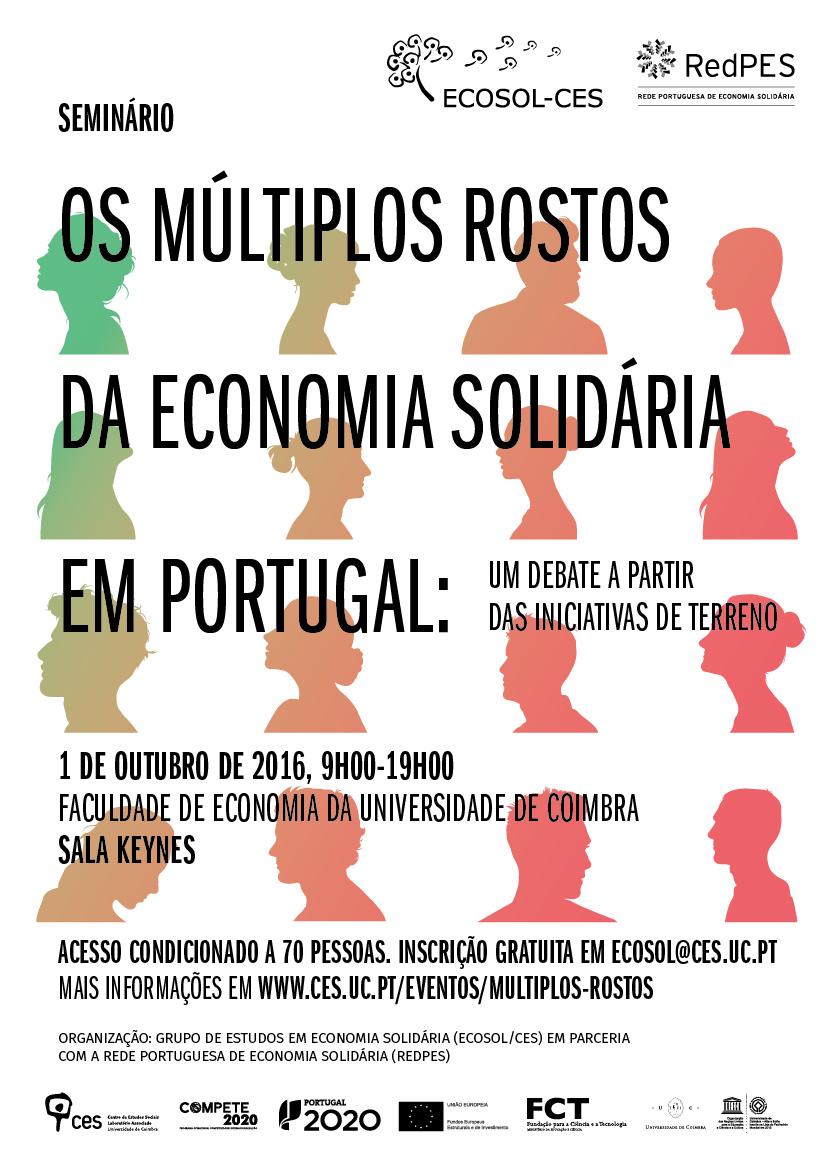 Cartaz do evento Os Múltiplos Rostos da Economia Solidária
