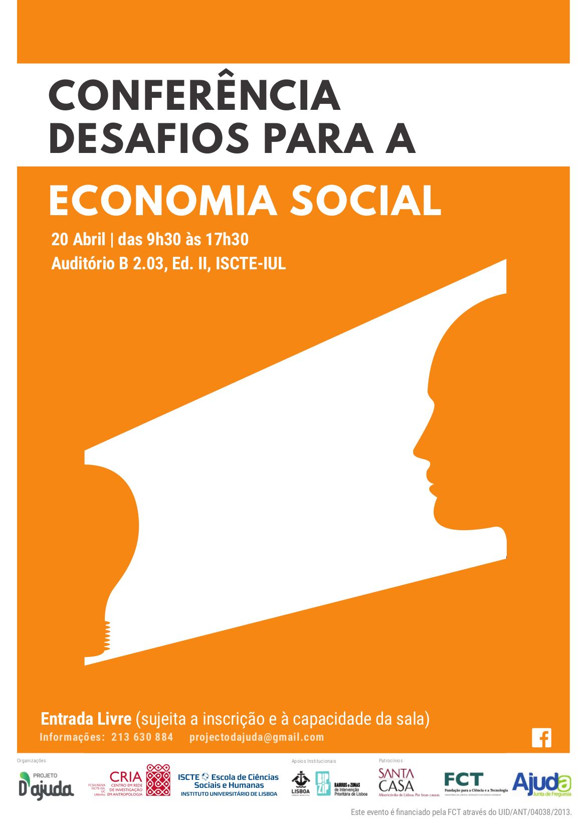 Cartaz CONFERÊNCIA DESAFIOS PARA A ECONOMIA SOCIAL