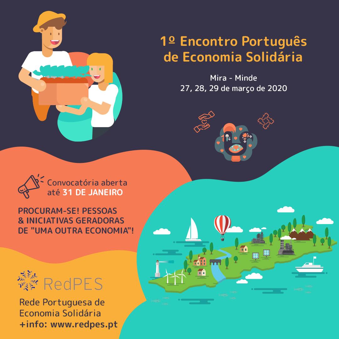 Anúncio do Encontro Português de Economia Solidária